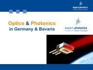 Optical Industry in Bavaria - Dr. Michael Kraus - bayern photonics eV