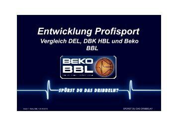 120906 Entwicklung BBL HBL DEL - BBC-Bayreuth