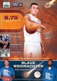 BLAUE WEIHNACHTEN - BBC-Bayreuth