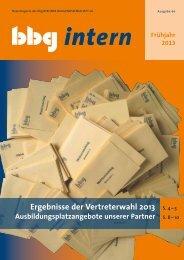 bbg intern 66 - Berliner Baugenossenschaft eG