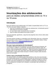 Imunizações dos adolescentes - Public Health Agency for Northern ...