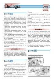 ETAPA Resolve - PUC 2009 - Biologia