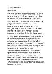 Vírus de computador Introdução Um vírus de computador - Era da ...