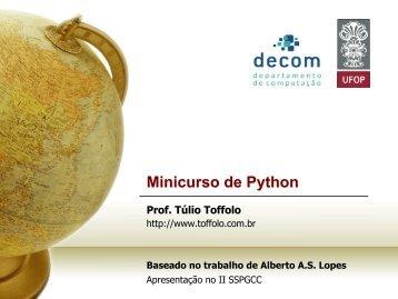 Minicurso de Python - Decom