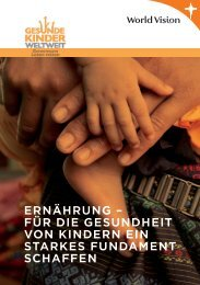 ERNÄHRUNG FÜRS lEBEN - World Vision Schweiz