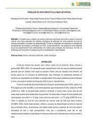 PRODUÇÃO DE ANTICORPOS POLICLONAIS ... - Embrapa Algodão