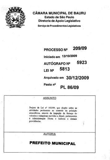 PREFEITO MUNICIPAL - Câmara Municipal de Bauru - Governo do ...
