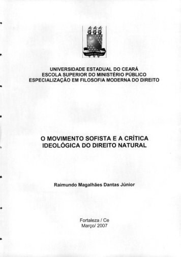 o movimento sofista ea crítica ideológica do direito natural