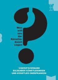 Was will uns der Künstler damit sagen - BBK-Bayern