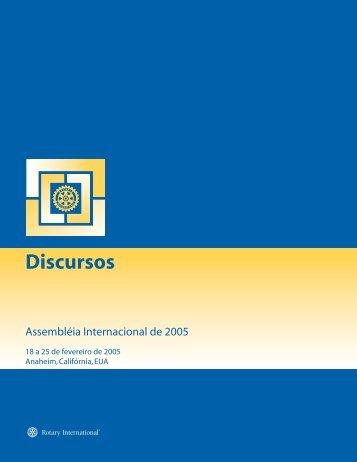 Discursos - Rotary International