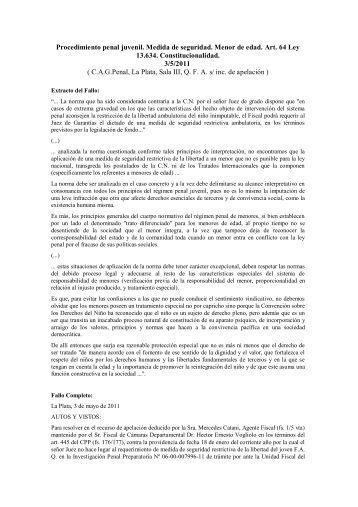Procedimiento penal juvenil - Revista Pensamiento Penal