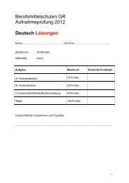 Deutsch Lösungen - Wirtschaftsschule KV Chur