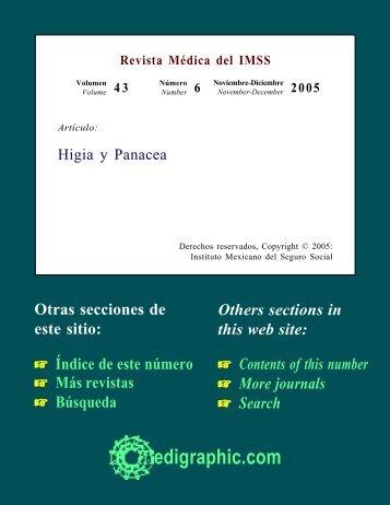 Cartas al editor. Higia y Panacea - edigraphic.com
