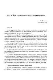 Educação e valores - contributos da filosofia / Ana Paula Pedro ...