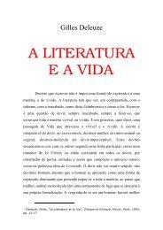 Gilles Deleuze = A literatura e a vida