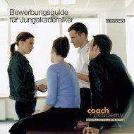 coach academy Bewerbungsguide für Jungakademiker - BBQ