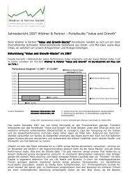 Jahresbericht 2007 Widmer & Partner ... - Widmer und Partner GmbH