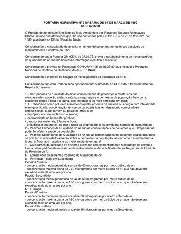 PORTARIA NORMATIVA N° 348/IBAMA, DE 14 DE MARÇO DE ...