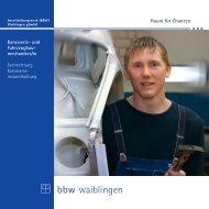 Karosserie- und Fahrzeugbaumechaniker/in - BBW Waiblingen ...