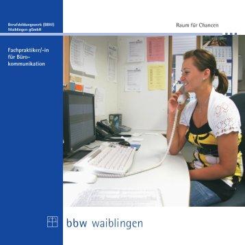 """""""Fachpraktiker/in Bürokommunikation"""" zum Download (PDF-Datei"""