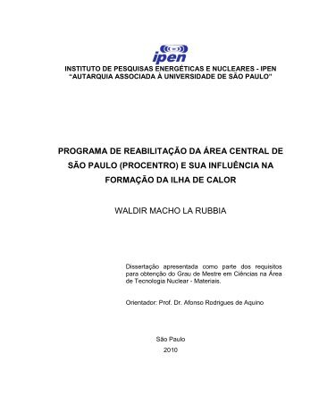 programa de reabilitação da área central de são paulo