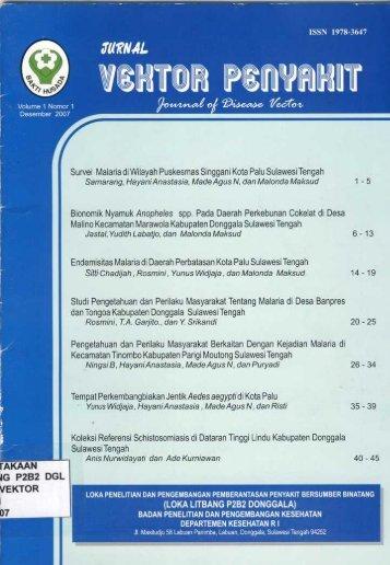 Studi Pengetahuan dan Perilaku Masyarakat Tentang Malaria di ...