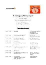 Programm endgültig - BDB NRW