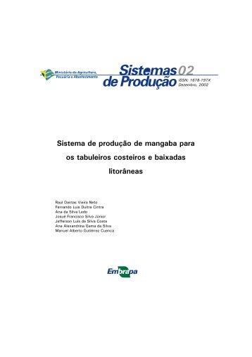 Sistema de produção de mangaba para os tabuleiros - Embrapa ...