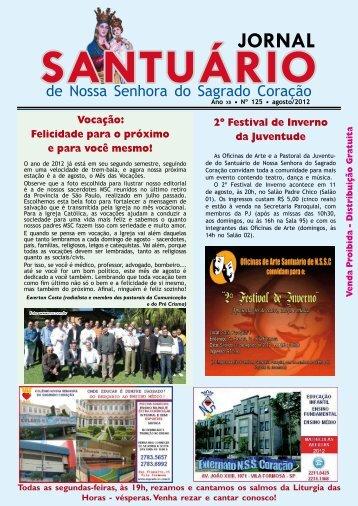 agosto/2012 - Paróquia Nossa Senhora do Sagrado Coração