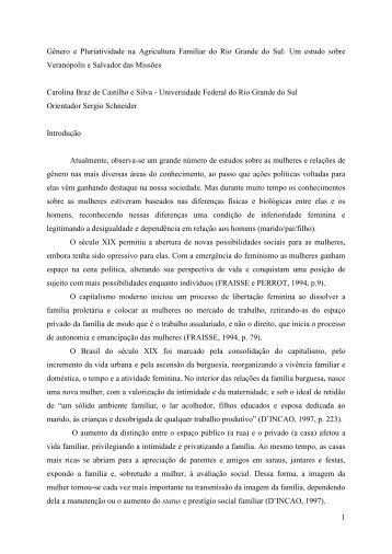 1 Gênero e Pluriatividade na Agricultura Familiar do Rio ... - CNPq