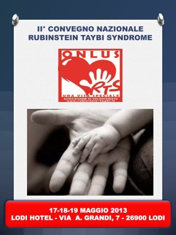 programma - Sindrome di Rubinstein-Taybi