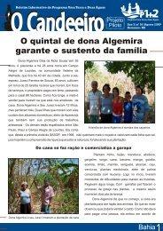 O Candeeiro_dona algemira - Agroecologia em rede