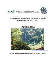 programa de assistência técnica e extensão rural - Incaper