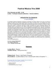 Festival Música Viva 2008 - Miso Music Portugal