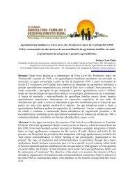 Agroindústrias familiares e Feira Livre dos Produtores rurais ... - ufrgs