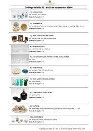 Catálogo do leilão 52 – dia 23 de novembro às 15h00