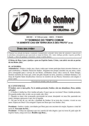 11° DOMINGO DO TEMPO COMUM - Diocese de Colatina/ES
