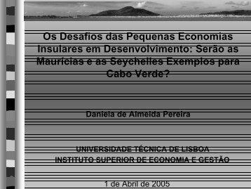 AS PEQUENAS ECONOMIAS INSULARES-SLIDES - Adelino Torres