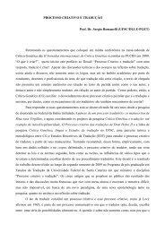 PROCESSO CRIATIVO E TRADUÇÃO Prof. Dr ... - NUPROC - UFSC