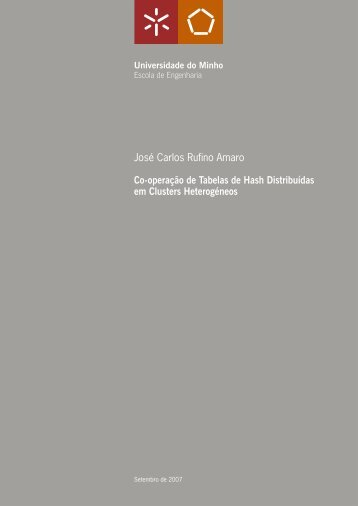 José Carlos Rufino Amaro Co-operação de Tabelas de Hash ...