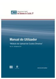 Manual do Utilizador - upload de Custos Directos - ACSS