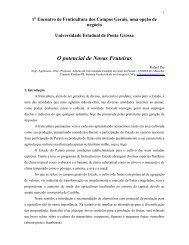 O potencial de Novas Fruteiras - Universidade Estadual de Ponta ...