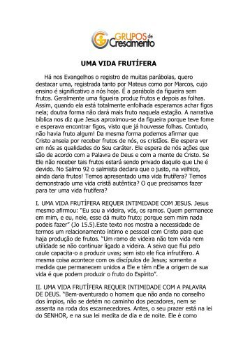 Uma vida Frutífera (04/03/12) - Igreja Batista Renascer