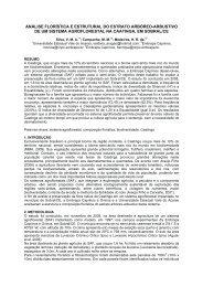 análise florística e estrutural do estrato arbóreo ... - Ainfo - Embrapa