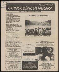 consciência negra - Centro de Documentação e Pesquisa Vergueiro