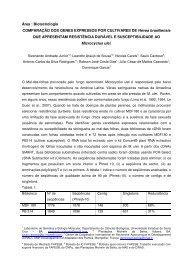 Área : Biotecnologia COMPARAÇÃO DOS GENES EXPRESSOS ...