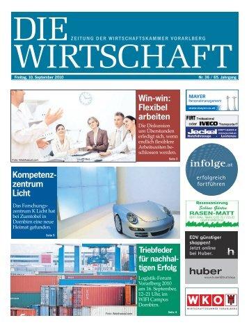 Die Wirtschaft Nr. 36 vom 10. September 2010
