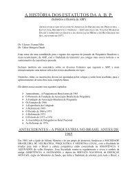 A história dos estatutos da ABP - Associação Brasileira de Psiquiatria