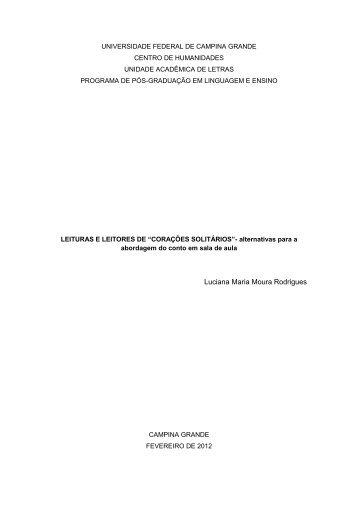 Luciana Maria Moura - Programa de Pós-Graduação em Linguagem ...