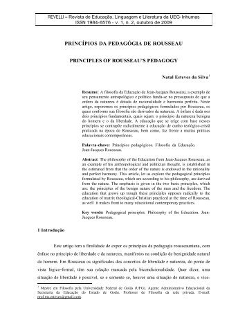 princípios da pedagógia de rousseau principles of rousseau s ...
